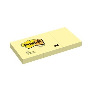 3M Sarı 653 Not Kağıdı Renkli